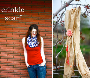Crinkle Scarf Tutorial from Ruffles and Stuff