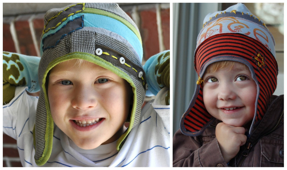 Upcycled Boy Hat by I am Mama Hear Me Raor
