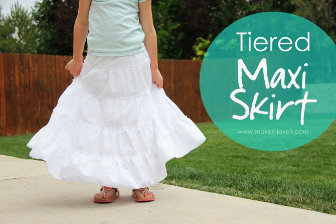 Tiered Maxi Skirt by Delia Creates
