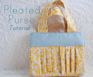 Pleated purse from Mommy by Day