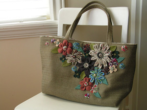 She Carries Flowers Bag by Tea Rose Home