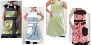 lined apron tutorial from the Modest Maven
