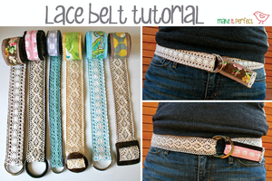Lace Belt Tutorial by Make it Perfect