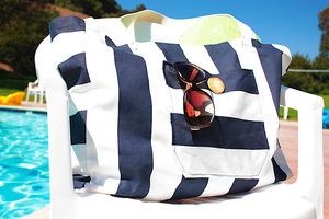 Canvas Beach Bag by Elle Apparel