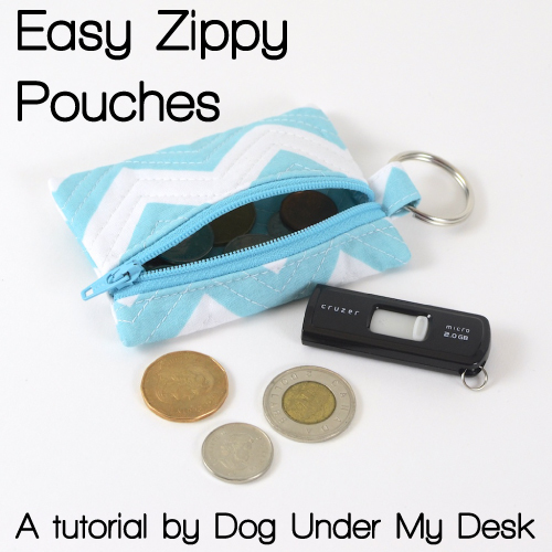 Easy Zippy Pouch by Dog Under My Desk