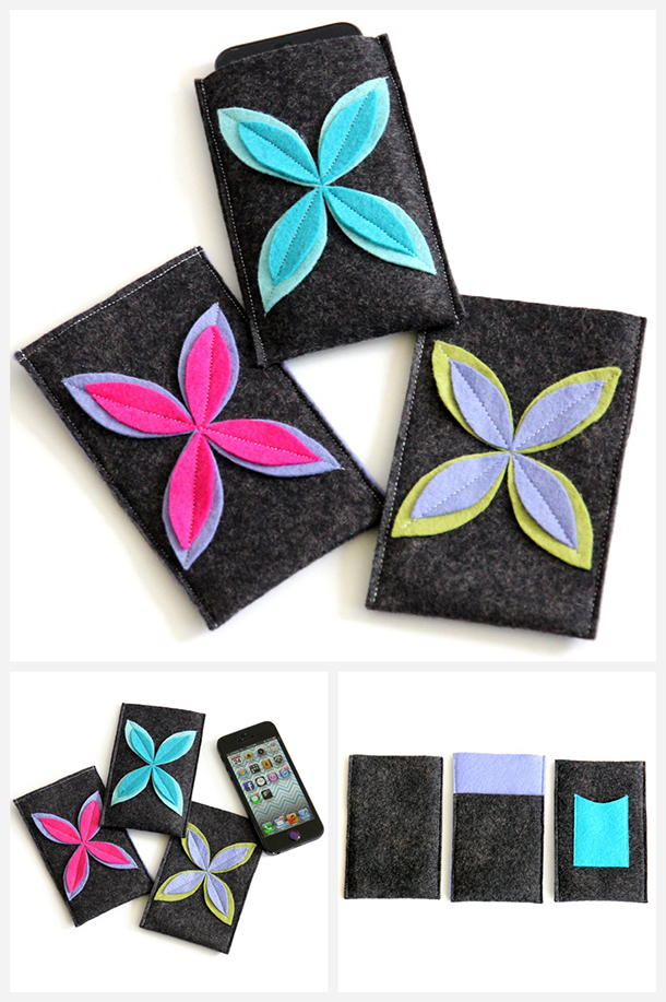 Felt Flower Design iPhone Case