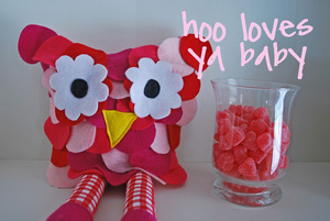 Valentine Owl Plush by Just Another Day in Paradise