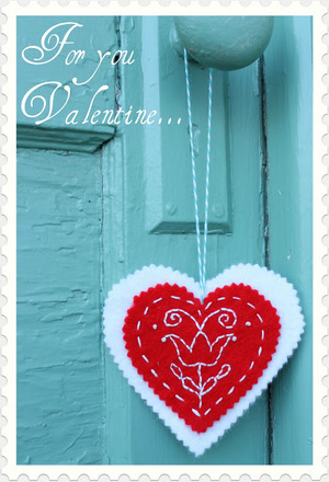 Hungarian Valentine Embroidery Pattern by Stitchery Dickory Dock
