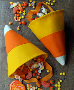 Candy Corn Trick or Treat bags from The Purl Bee
