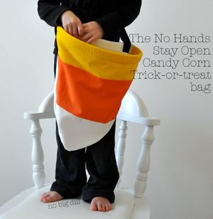 Candy Corn Treat Bag from No Big Dill