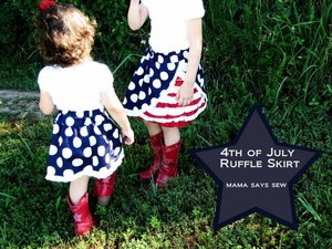 4th of July  Ruffle Skirt by Mama Says Sew