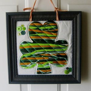 Messy Ribbon Applique for St Patricks Day by Sew A Straight Line