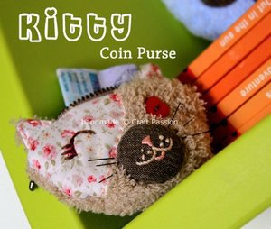 Kitty Coin Purse by Craft Passion