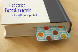 Fabric Bookmark with Pocket by Zaaberry