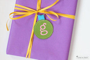 Gift Tag Key Chain by Come On Ilene