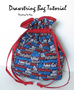 Drawstring Bag Tutorial by Threading My Way