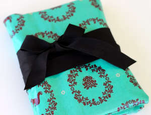 Oilcloth book cover tutorial by Prudent Baby