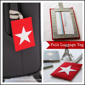Felt Luggage Tag Tutorial by The Sewing Loft