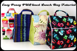 Easy PUL lined lunchbag pattern by Jane of all Trades
