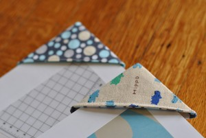 Fabric Corner Bookmarks by Craft Buds