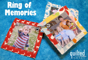 Ring Of Memories fabric photo book