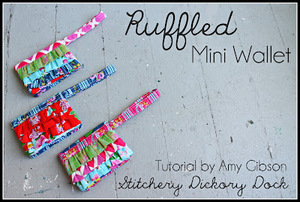 Ruffled Mini Wallet by Amy Gibson