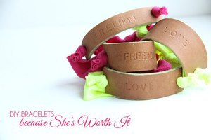 Stamped Leather Bracelet by the Sewing Rabbit
