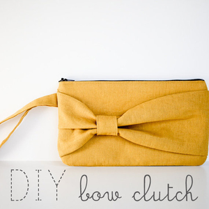 DIY bow clutch by Elm Street Life