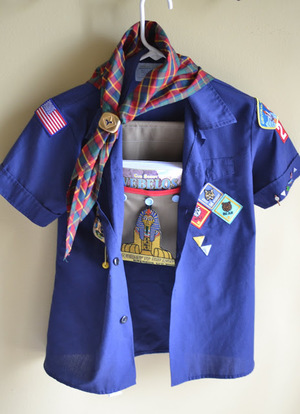 Scout Book Hanging Pocket by Blue Susan Makes