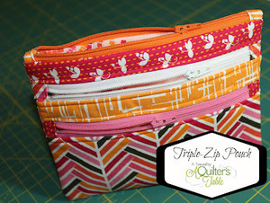 Triple Zip Pouch by A Quilter's Table