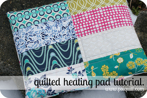 Quilted Heating Pad by PS I quilt