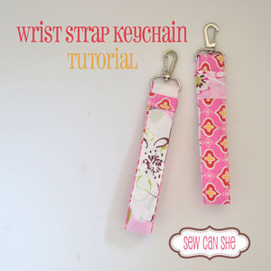 Wrist Strap Keychain Tutorial by SewCanShe