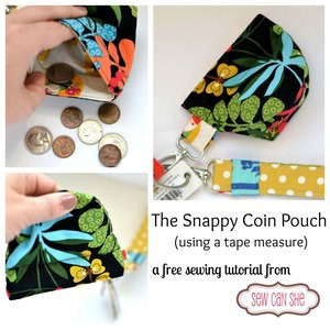 Snappy Coin Pouch Tutorial by SewCanShe