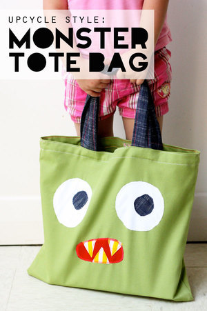 Monster Tote Bag by My Poppet