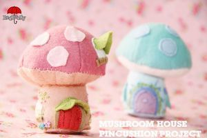 Felt Mushroom Fairy House by Red Brolly