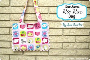 Ric Rac Canvas Tote Bag by Sew Can Do