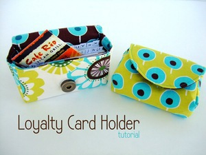 Loyalty Card Holder on Grosgrain