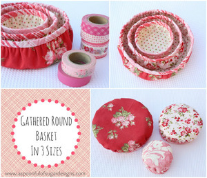 Gathered Round Basket by Spoonful of Sugar Designs