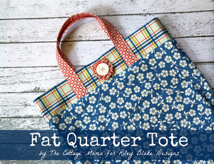 Fat Quarter Tote Bag by The Cottage Mama