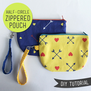 Half Circle Zippered Pouch by Lula Louise