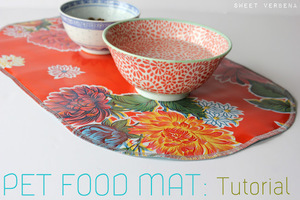 Pet Food Mat Tutorial by Sweet Verbena