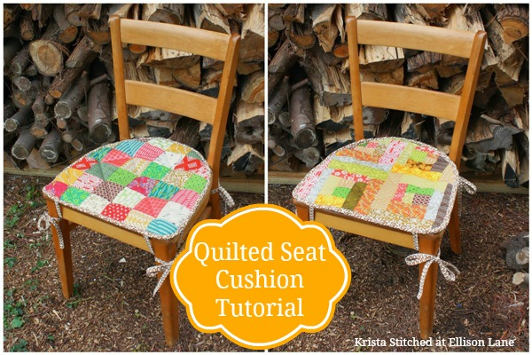 Quilted Revesable Seat Cushion Tutorial