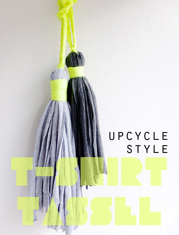 Upcycle Style T-Shirt Tassel from My Moppet