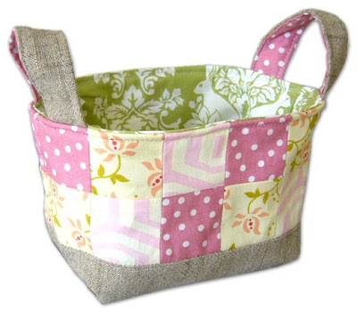 Fabric Basket by Pink Penguin