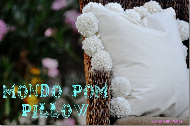 Mondo Pom Pillow by Living with Punks