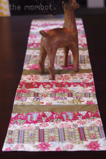 Fabric Scrap Table Runner by The Mom Bot