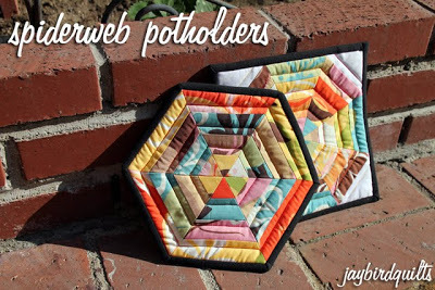 Spider Web Potholder by Jay Bird Quilts