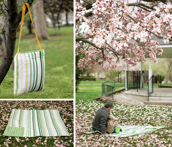 All in One Picnic Blanket Tote by Craft Buds