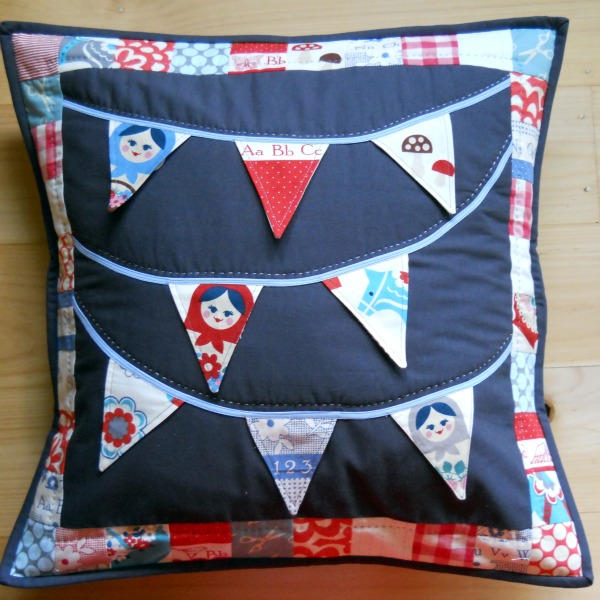 Peek-a-Boo Bunting Pillow by A Cuppa and A Catch Up