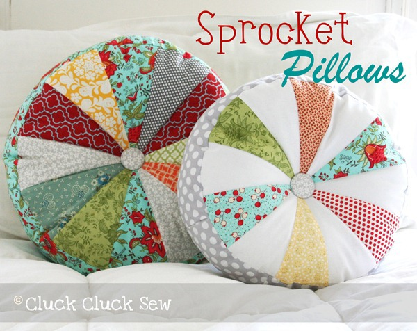 Sprocket Pillows by  Cluck Cluck Sew